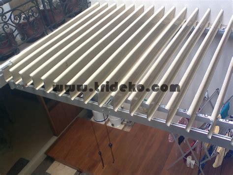 membuat atap jemuran kanopi kaca dan sunlouvre sistem atap buka tutup atap jemuran