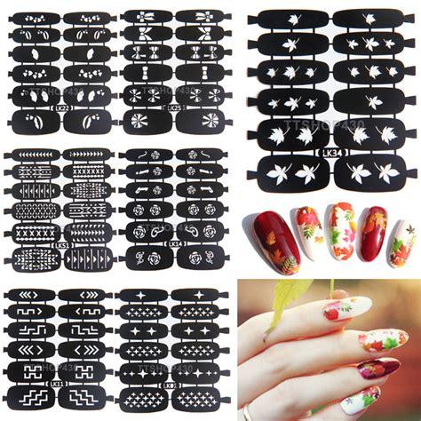 easy nail art stencils aliexpress com buy new easy use nail art sting