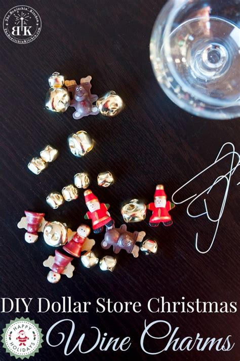 christmas wine charms dollar store craft the bewitchin