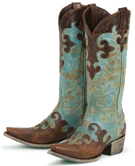 boots s dawson cowboy boots turquoise brown