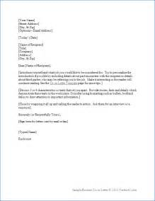 Cover Letter For Resume by Resume Cover Letter Template For Word Sle Cover Letters