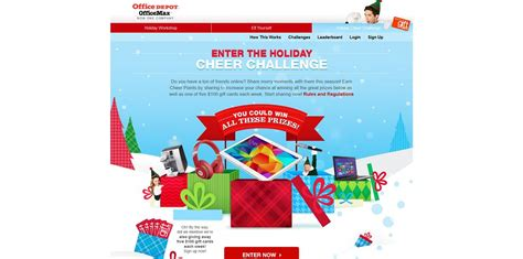 Office Sweepstakes - office depot holiday cheer challenge sweepstakes holidaycheerchallenge com