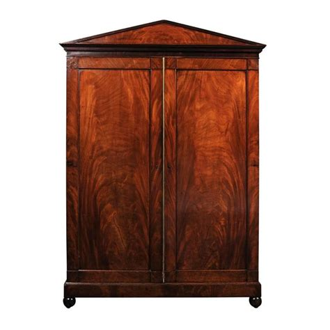 mahogany armoire louis philippe flame mahogany armoire for sale at 1stdibs