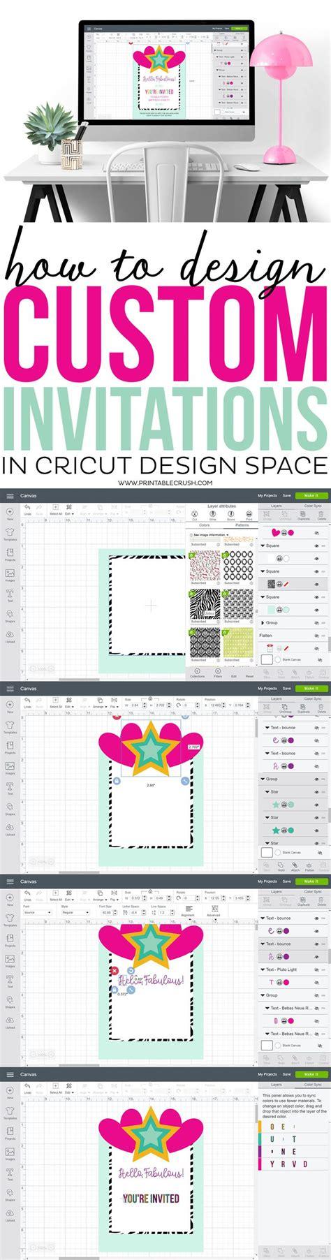 design invitation from scratch best 25 cricut invitations ideas on pinterest cricut