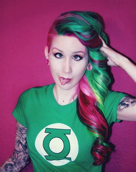 mermaid perm permanent mermaid colored hair
