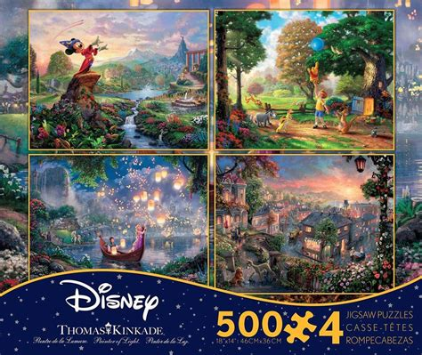 3 Set Puzzle Winnie The Pooh 12 Pcs kinkade disney dreams collection multi pack 4 in 1