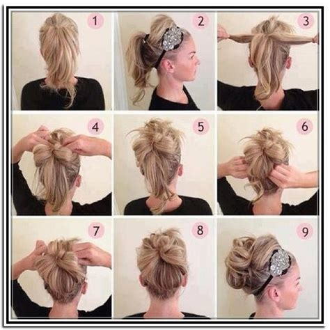 step by step hair updos easy updos for long hair step by step ideas 2016
