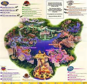 Universal Orlando Map 2015 by Theme Park Brochures Islands Of Adventure Theme Park