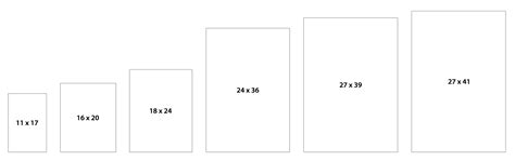 canvas layout sizes 11 best photos of standard poster presentation size