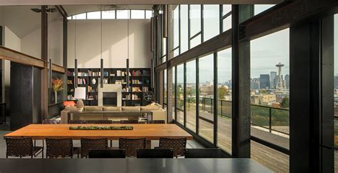 Interior Architects Seattle by Great Room With Great View Of Seattle By Kundig 900x460 The Best Designs And From
