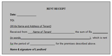 rent receipt template word 21 rent receipt templates sle templates