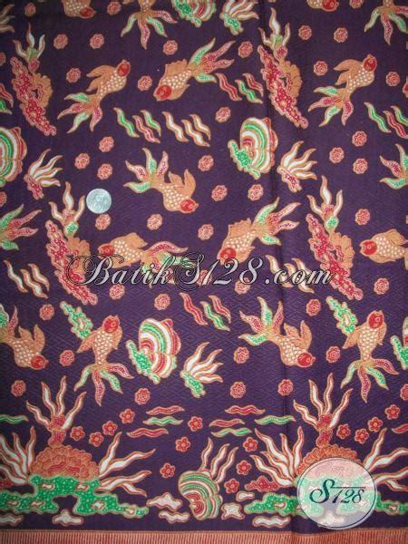 Batik Pd Ungu batik motif ikan kain batik bahan doby halus berwarna ungu