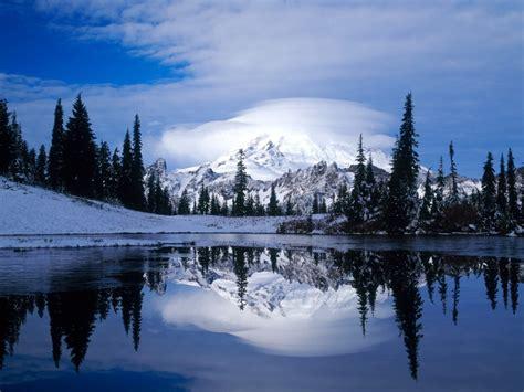 mount rainier reflected tipsoo lake wallpapers hd
