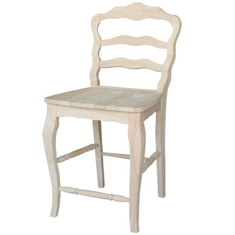 unfinished maple bar stools international concepts versailles 24 in unfinished wood
