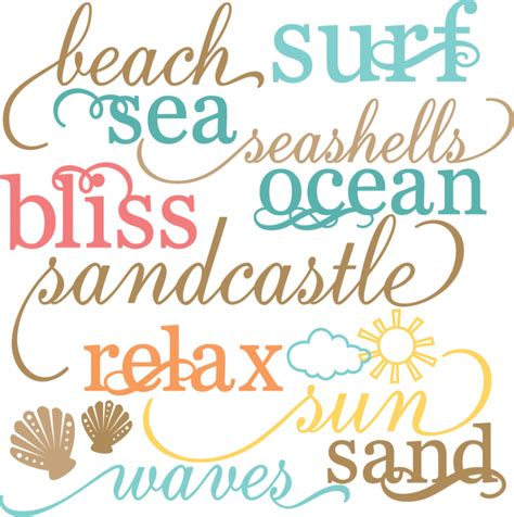 printable beach fonts beach words set svg cut files beach svg files sun svg cuts
