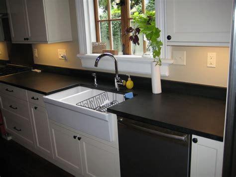 Kitchen Backsplash Ideas With Granite Countertops kitchen absolute black honed granite