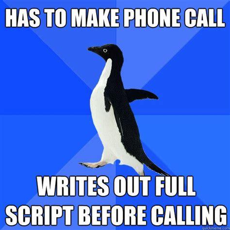 Meme Script - has to make phone call writes out full script before
