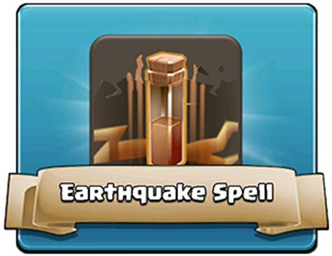 earthquake spell clash of clans spells clash wiki com