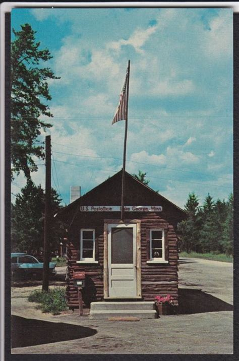 Lake Post Office by Lake George Mn World S Smallest Post Office Vintage