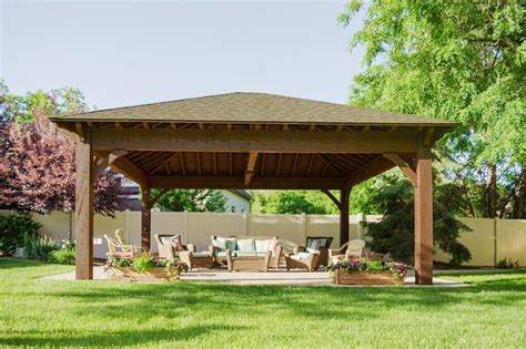 22'x24' Hip Roof Pavilion w/ Integrated Self Contained