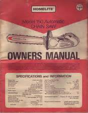 Homelite 150 Manuals