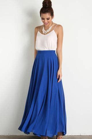Ammelia Maxy Dusty amelia blue maxi skirt morning lavender