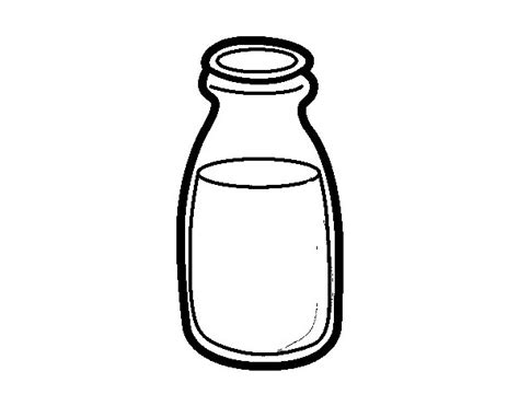 dibujos realistas botella dibujo de botella de leche para colorear dibujos net