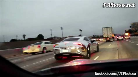 bieber chrome maserati justin bieber driving her chrome fisker karma youtube