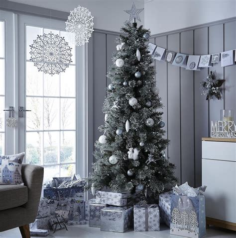 new tesco luxury 6 5ft alpine snow artificial tree green 5057373331830 ebay