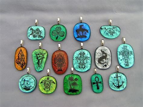 how to make dichroic glass jewelry handmade etched dichroic fused glass pendants by creations