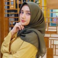 Jilbab Bella Square Warna Gold