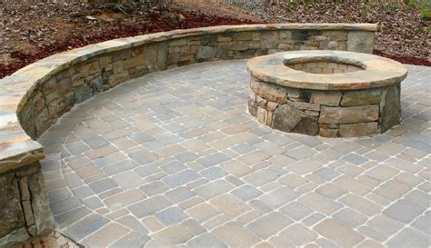 stacked pit stacked firepit with seating wall fireplaces and
