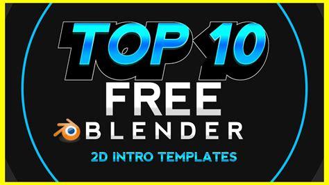 Top 10 New Blender 2d Intro Templates Series 1 1080p 2d Intro Template Blender