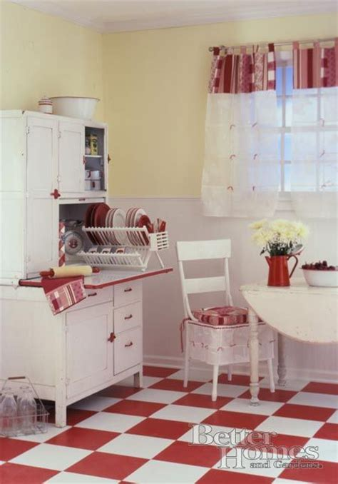 red kitchen with white cabinets red white retro kitchen i like the pale yellow on the