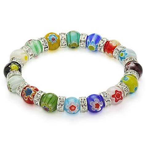 glass beaded bracelets venetian millefiori bead lwork murano glass beaded