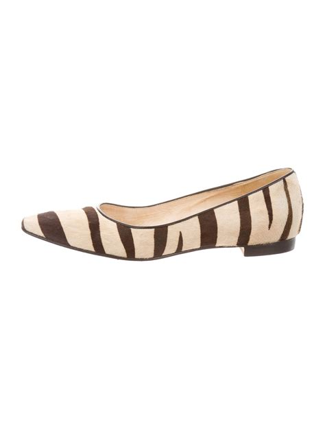zebra print flats shoes manolo blahnik zebra print square toe flats shoes