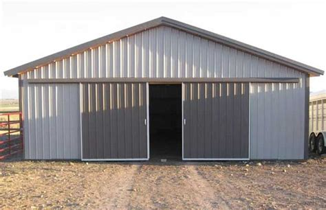 10 Sliding Barn Doors Hansen Pole Buildings Metal Steel Barn Doors