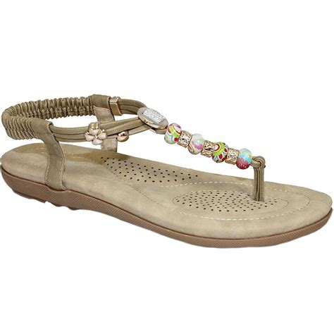comfortable thong sandals jlh708 beech ladies beaded vibrant comfortable thong