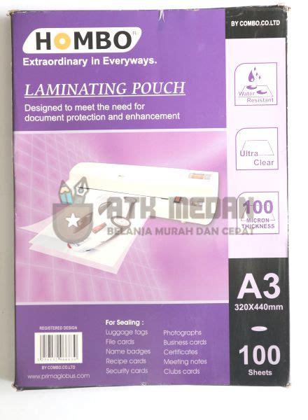 Plastik Laminating Folio Merek Joyko harga plastik laminating laminating pouch ukuran folio a3 di medan atk medan