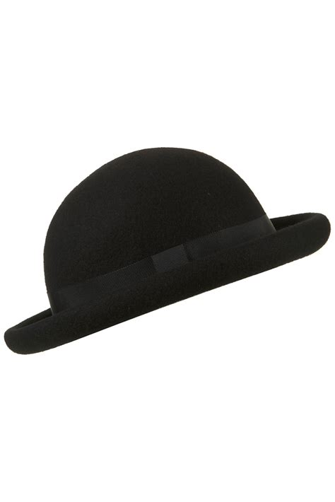 How To Make A Bowler Hat Out Of Paper - topshop roller bowler hat in black lyst