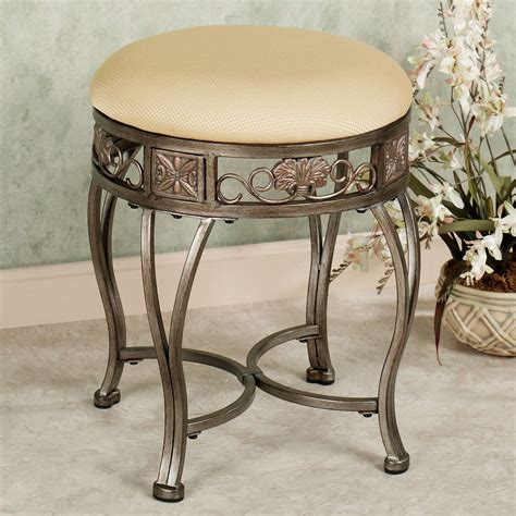 Vanity Benches For Bathroom Bathroom Ideas Brown Iron Bathroom Vanity Bench With Back And Padded Seat Charming Vanity