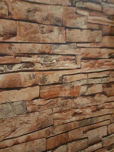 wallpaper dinding eksklusif jual wallpaper dinding motif batu bata alam 3d tipe 3