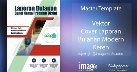 template desain cover buku download template desain cover laporan bulanan modern