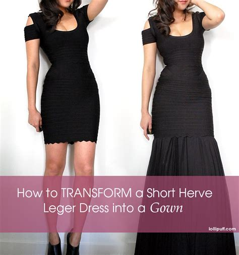 How To Dress On A by How To Lengthen A Herve Leger Dress Into A Gown
