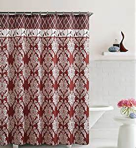 Trellis Fabric Curtains Burgundy And Brick Embossed Fabric Shower Curtain Floral Medallion Trellis