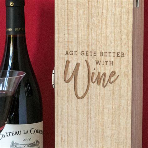 Age Gets Better With Wine Quote age gets better with wine box quote gift by dust
