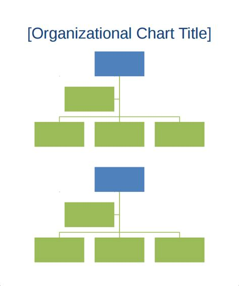 14 Sle Organizational Chart Templates Pdf Word Excel Sle Templates Corporate Org Chart Template