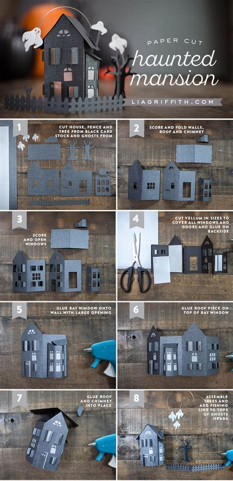 printable haunted house craft paper craft haunted house crafts spooky house and house