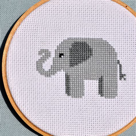 pattern by etsy cross stitch pattern pdf elephant by sewingseed on etsy