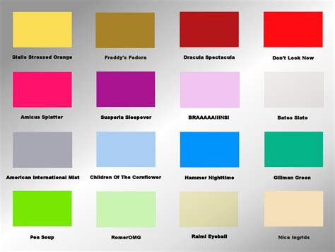 what are the mood colors the horror colour mood chart peacockpete s adventures in